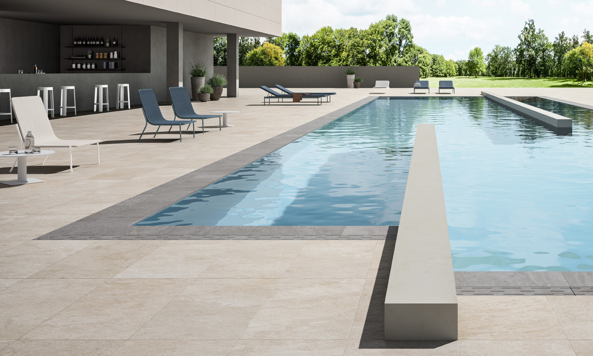 Lea Ceramiche Waterfall Outdoor Ivory & Silver Flow